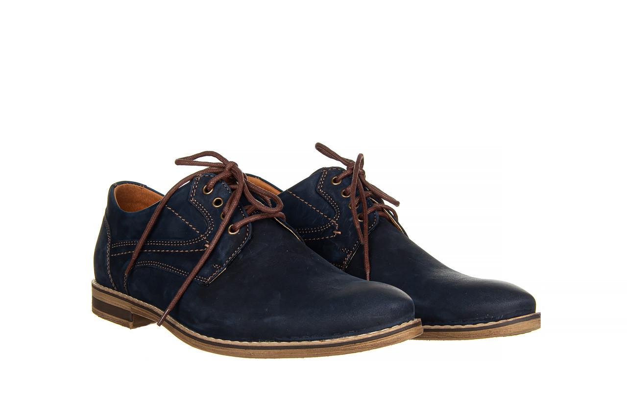 Półbuty bayla-081 831 juma blue ax, granat, skóra naturalna  - wizytowe - półbuty - buty męskie - mężczyzna 9