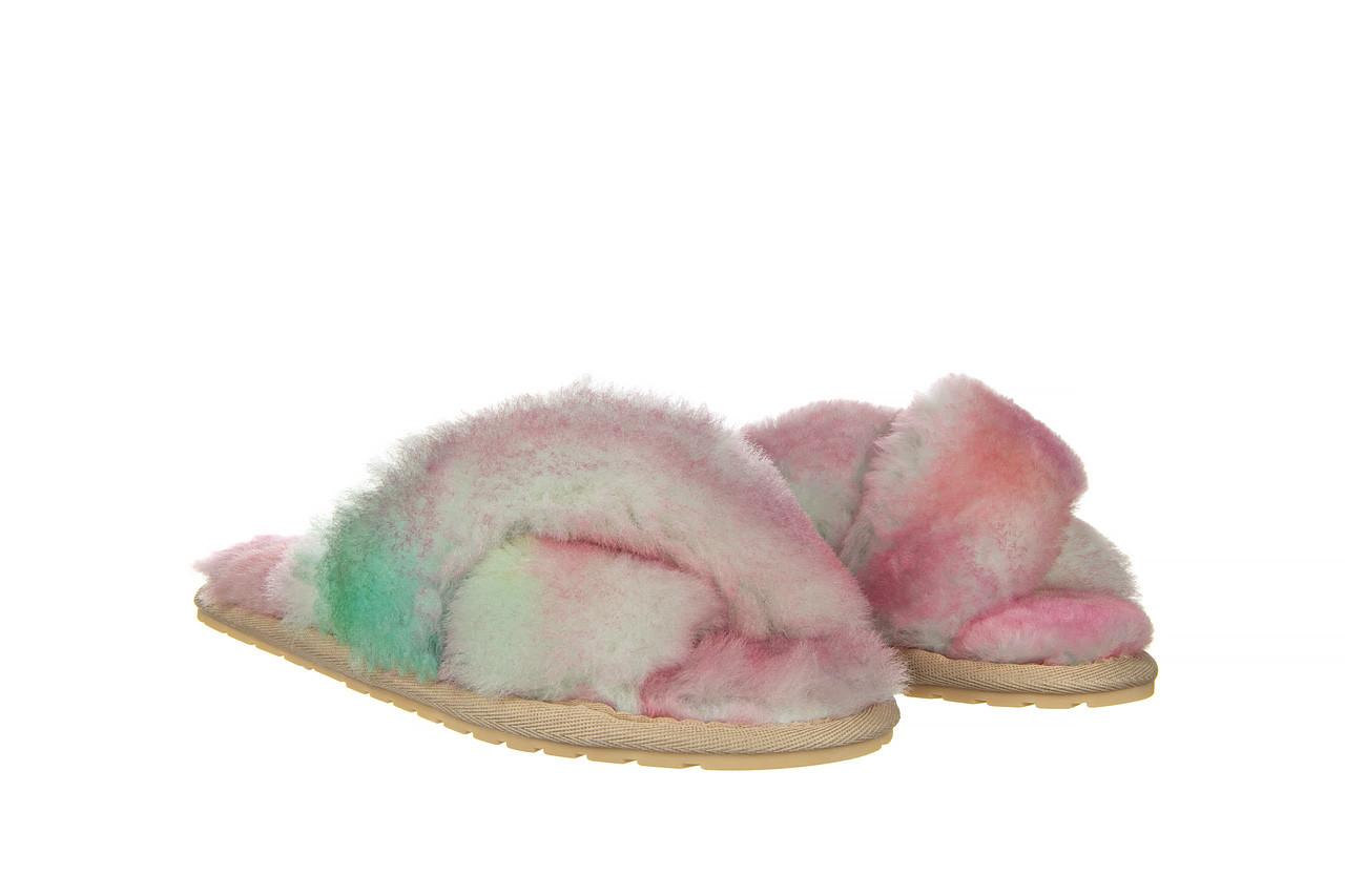 Kapcie emu mayberry tie dye fairly floss 119137, róż, futro naturalne  - nowości 8