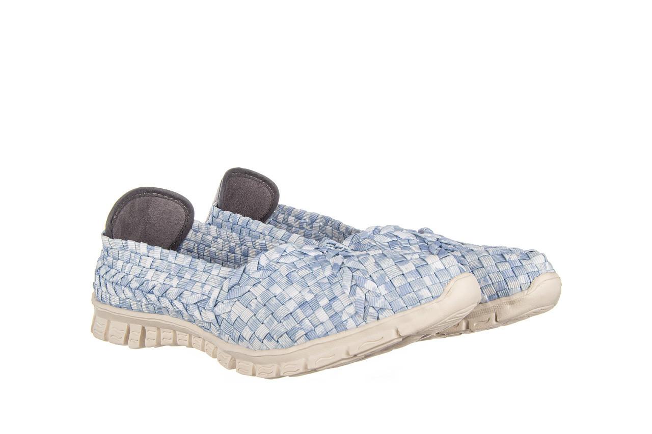 Półbuty rock carioca perena blue smoke 032826, niebieski/ biały, materiał - wsuwane - półbuty - buty damskie - kobieta 9
