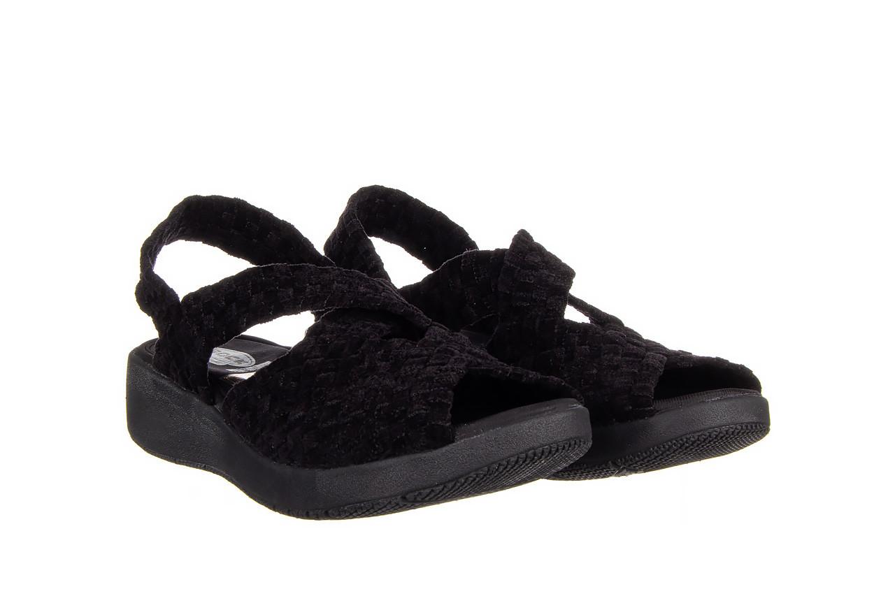 Sandały rock minily black cashmere 032847, czarny, materiał  - rock - nasze marki 8