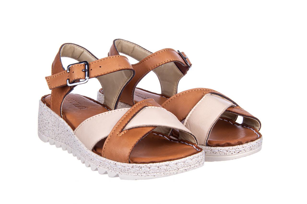 Sandały bayla-161 016 981 beige coconut 161197, brąz/ beż, skóra naturalna  - bayla - nasze marki 9