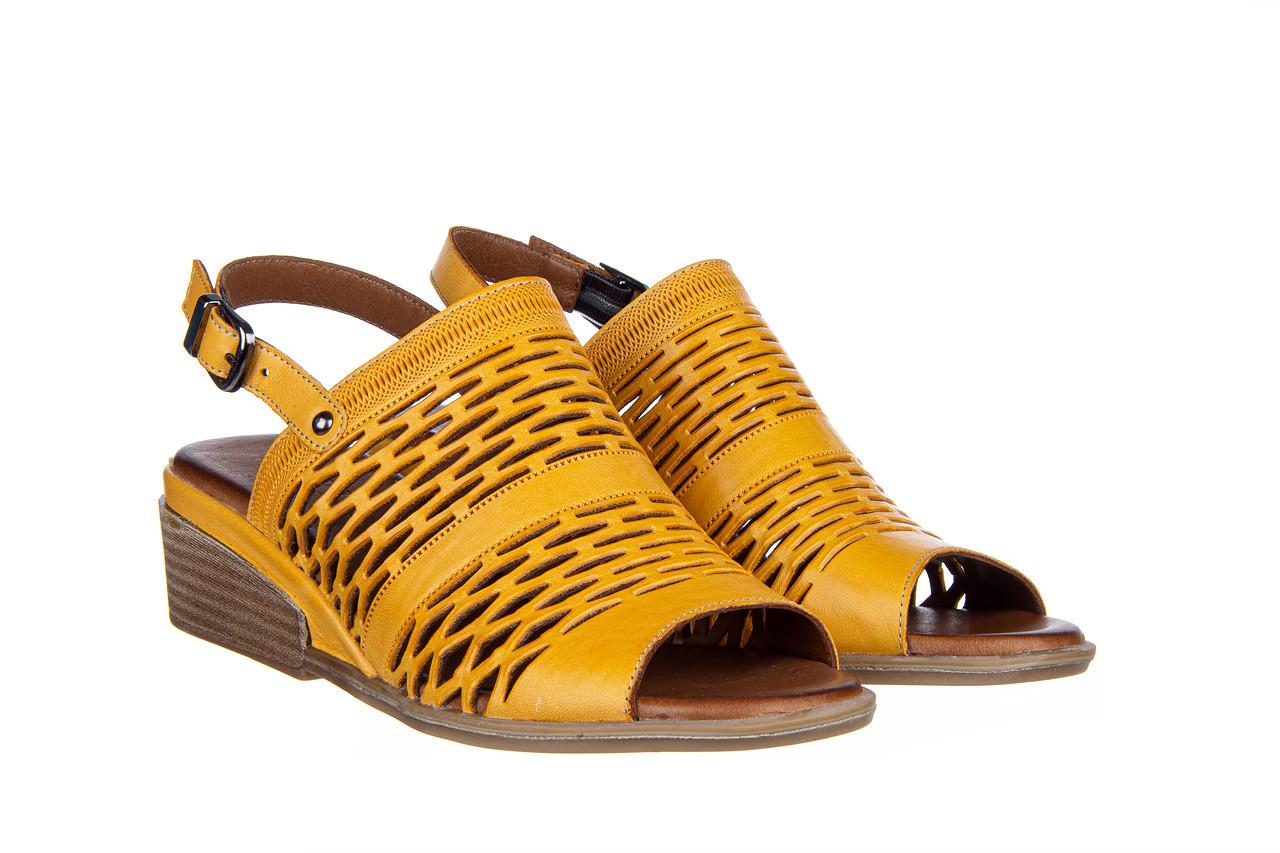 Sandały bayla-161 061 1600 noce 161200, żółty, skóra naturalna  - bayla - nasze marki 9