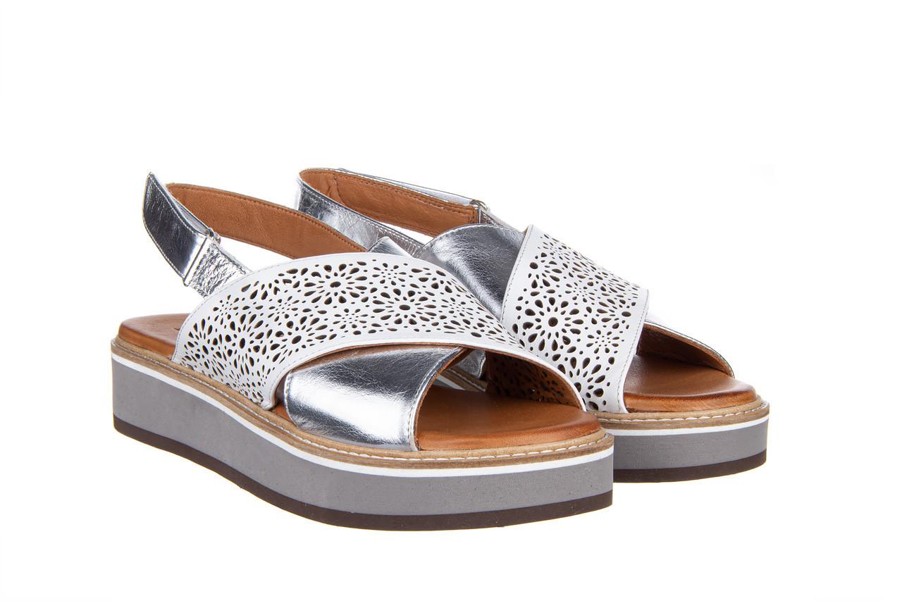 Sandały bayla-161 105 2014 white silver 161213, srebrny/ biały, skóra naturalna  - bayla - nasze marki 9