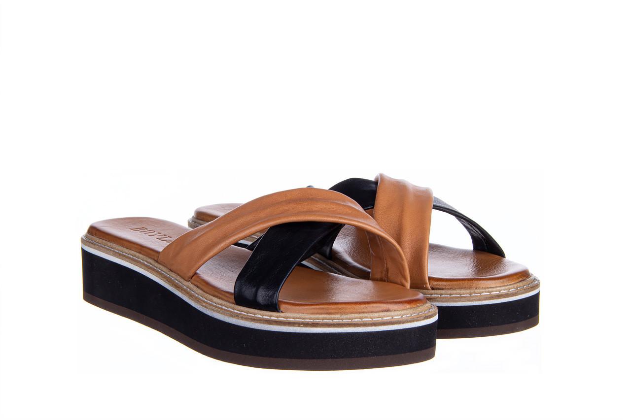 Klapki bayla-161 105 6004 black tan 161214, czarny/ brąz, skóra naturalna  - klapki - buty damskie - kobieta 9