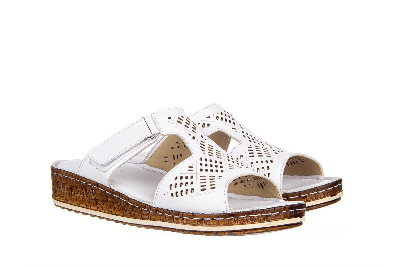 Klapki bayla-161 016 460 white 161189, biały, skóra naturalna  - bayla - nasze marki 9
