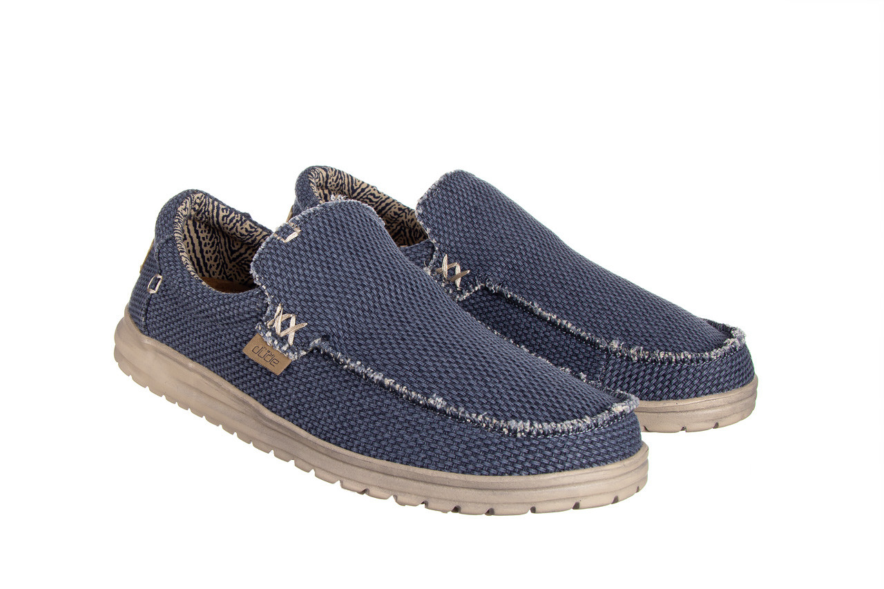 Półbuty heydude mikka braided deep blue 003196, granat, materiał - buty męskie - mężczyzna 9
