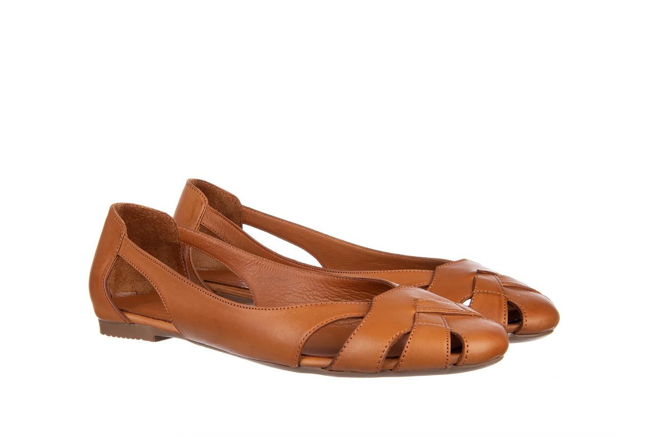 Baleriny bayla-161 093 6047 coconut 161209, brąz, skóra naturalna  - skórzane - baleriny - buty damskie - kobieta 9