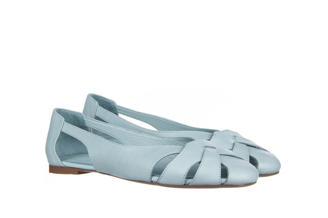 Baleriny bayla-161 138 1560 fresh 161220, niebieski, skóra naturalna - skórzane - baleriny - buty damskie - kobieta 9