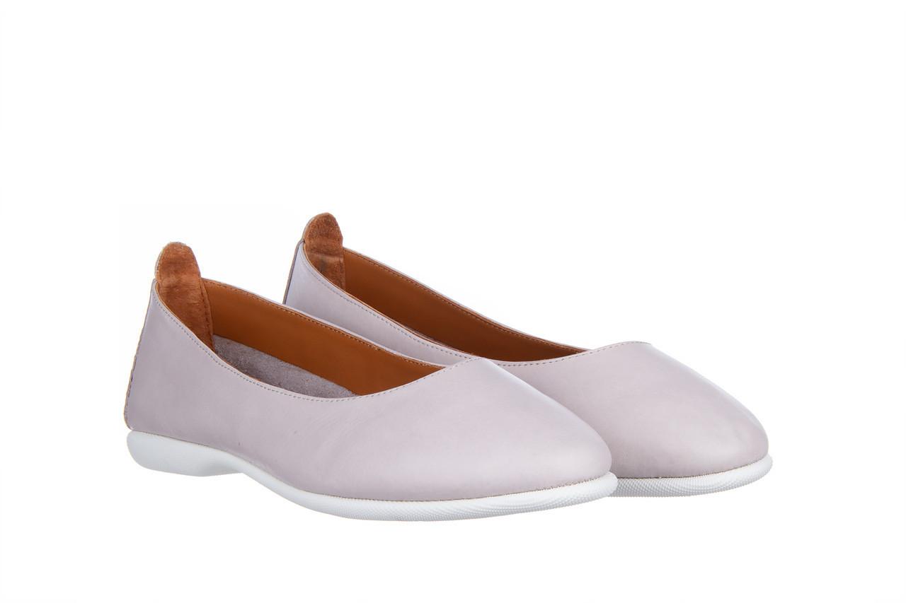 Baleriny bayla-161 059 f007 34 silver grey 161230, beż, skóra naturalna  - skórzane - baleriny - buty damskie - kobieta 9