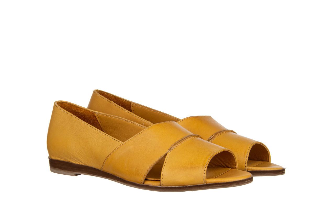 Baleriny bayla-161 138 80123 noce 161225, żółty, skóra naturalna  - skórzane - baleriny - buty damskie - kobieta 9