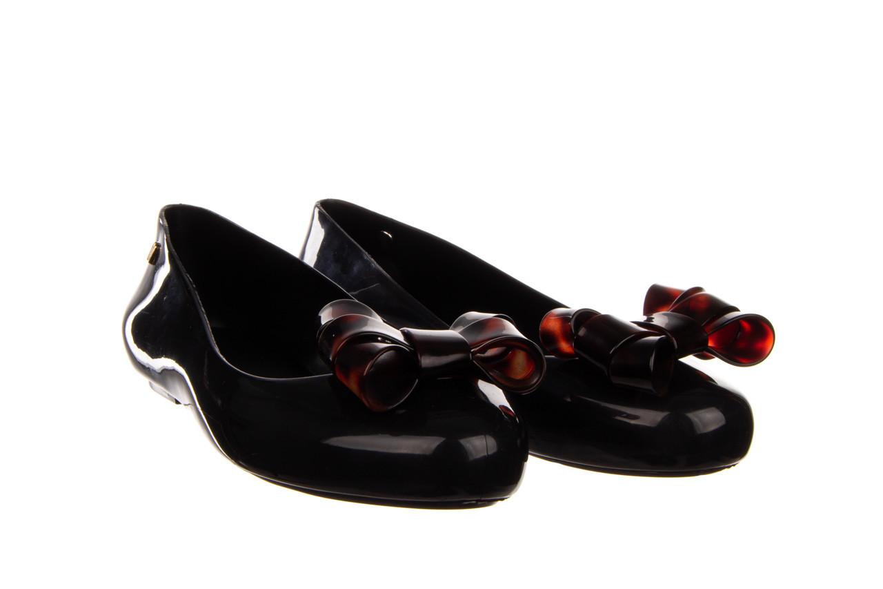 Baleriny melissa sweet love iii ad black tortoise 010353, czarny, guma  - gumowe - baleriny - buty damskie - kobieta 8