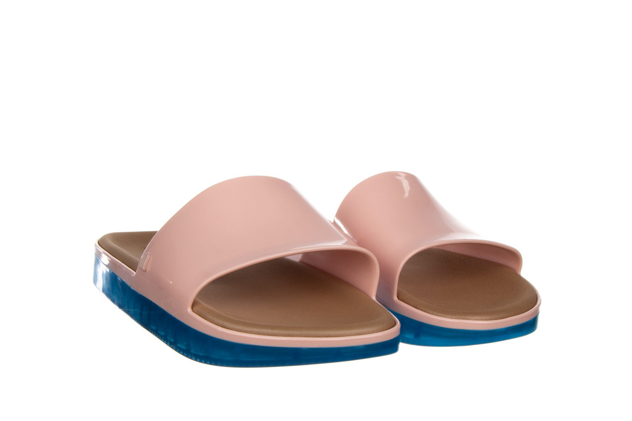 Klapki melissa beach slide next gen ad pink blue 010339, róż, guma - klapki - buty damskie - kobieta 8