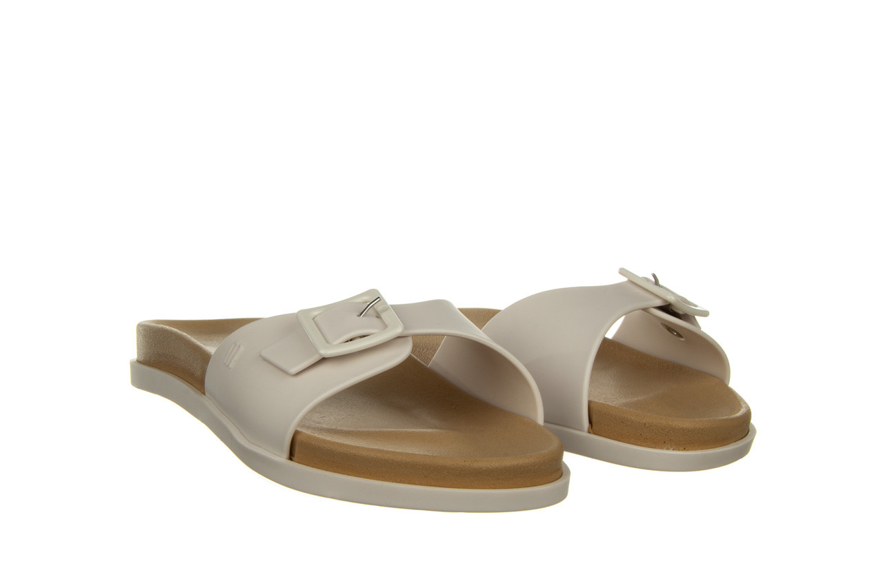 Klapki melissa wide slide ad white beige 010367, biały, guma - nowości 7