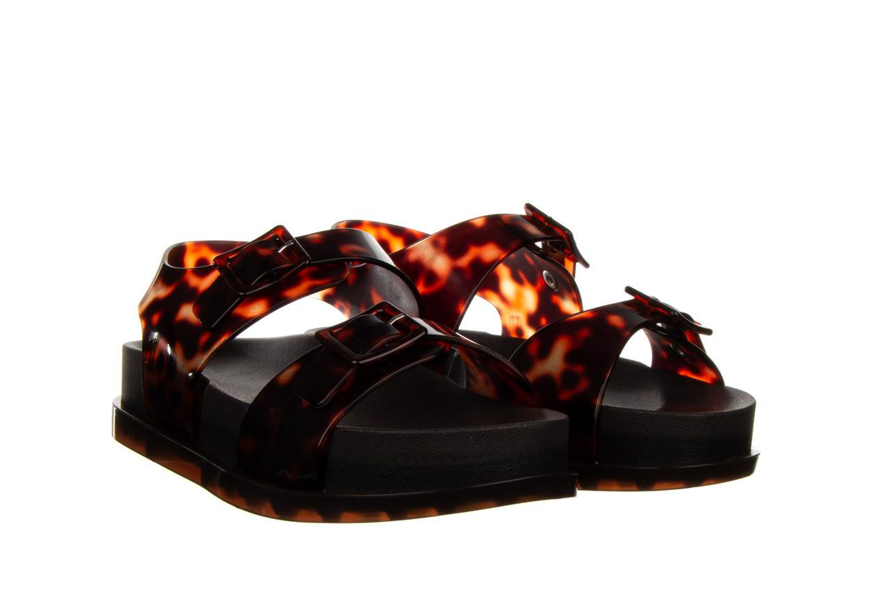 Sandały melissa wide platform ad black turtoise 010362, czarny/ brąz, guma - nowości 9