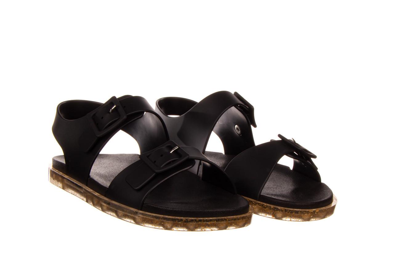 Sandały melissa wide sandal ad black rice husk 010358, czarny, guma - nowości 9