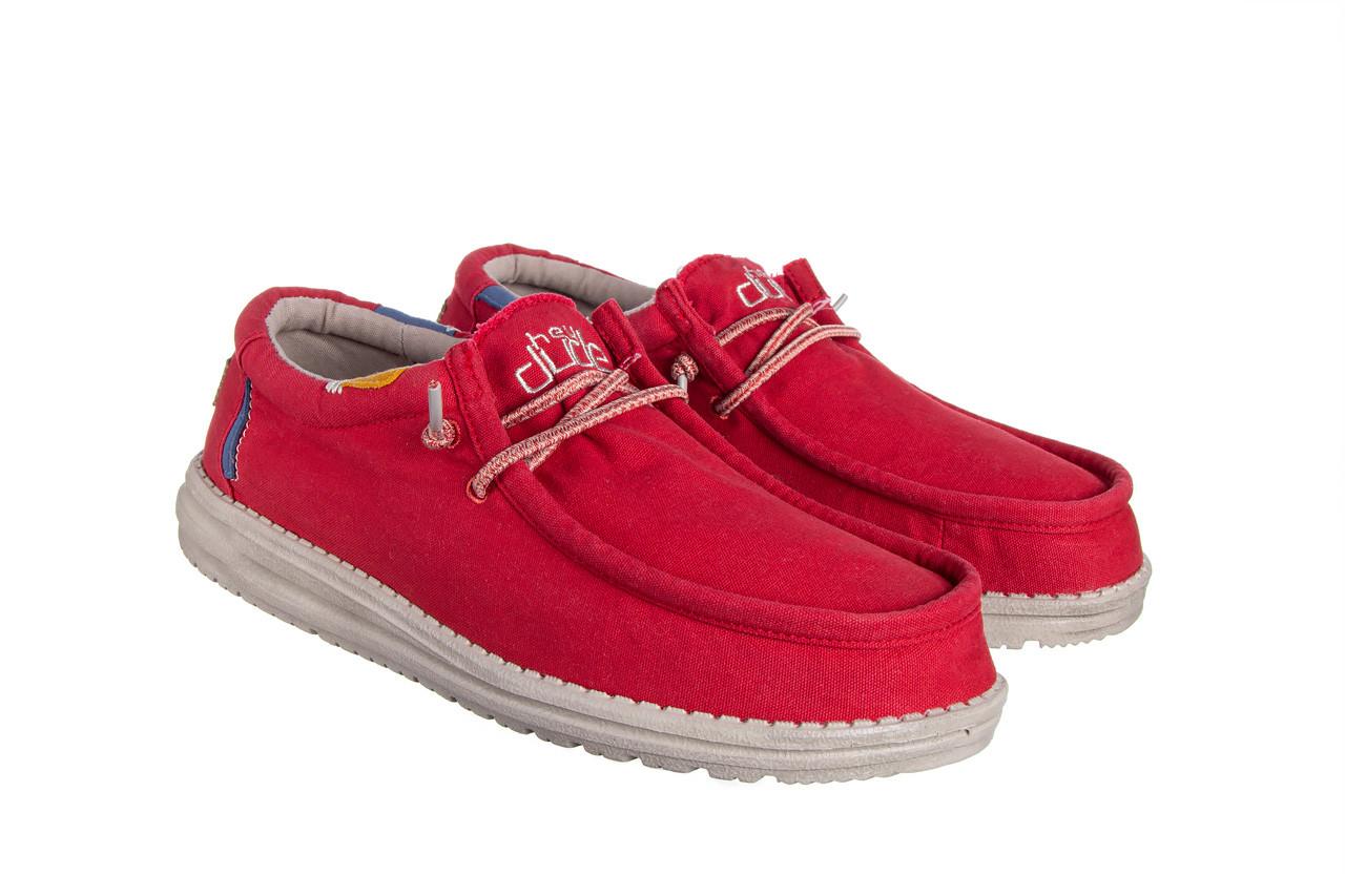 Półbuty heydude wally washed molten lava 003208, czerwony, materiał - trendy - mężczyzna 9