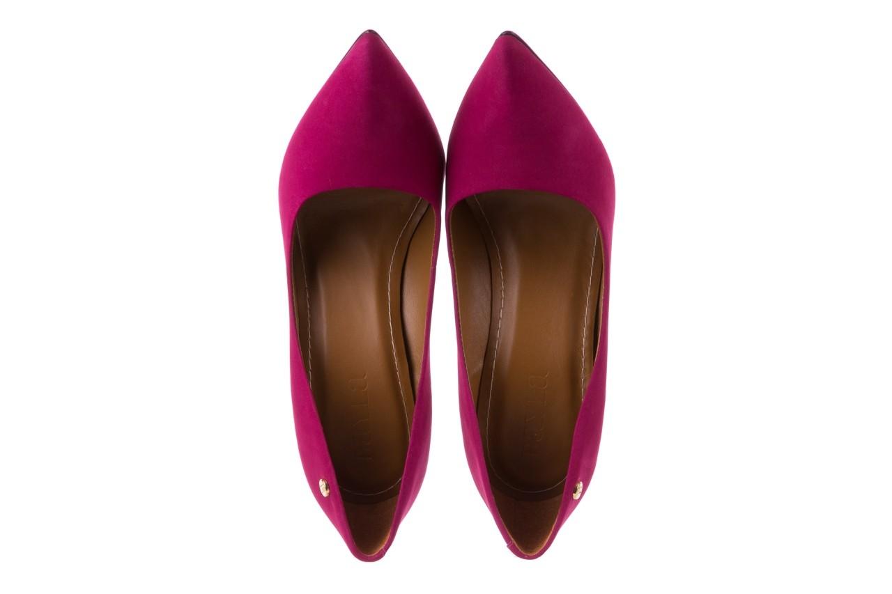 Szpilki bayla-067 118706l purpurowe, skóra naturalna - kolekcja ślubna - trendy - kobieta 11