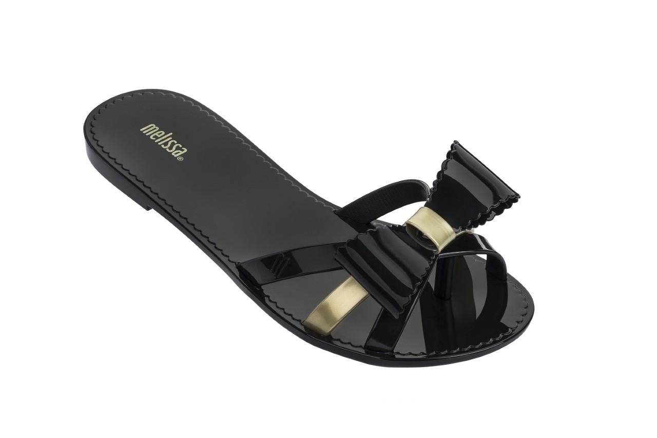 Klapki melissa fluffy ii ad black gold, złoty/czarny, guma - japonki - klapki - buty damskie - kobieta 4