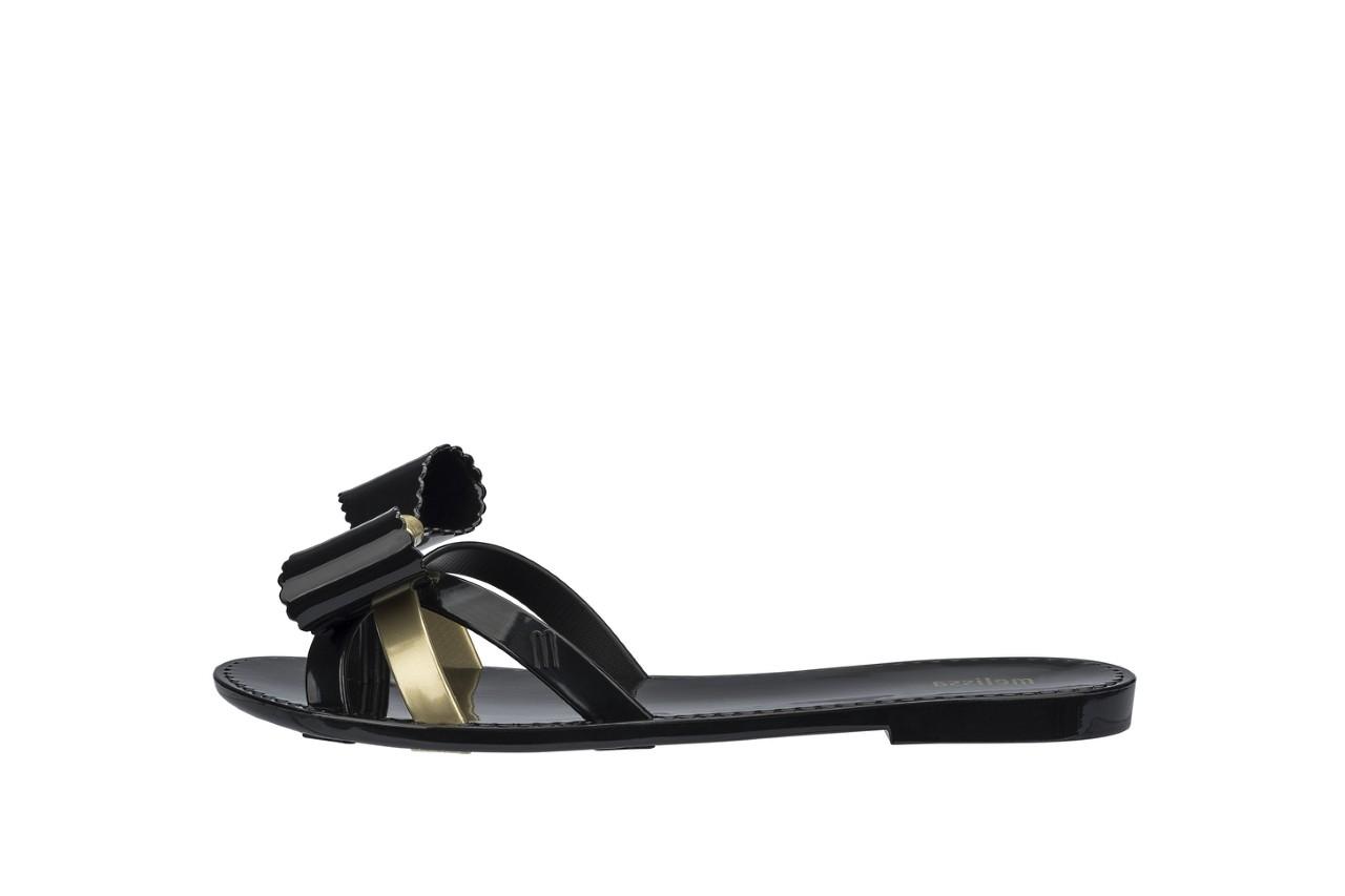 Klapki melissa fluffy ii ad black gold, złoty/czarny, guma - japonki - klapki - buty damskie - kobieta 5