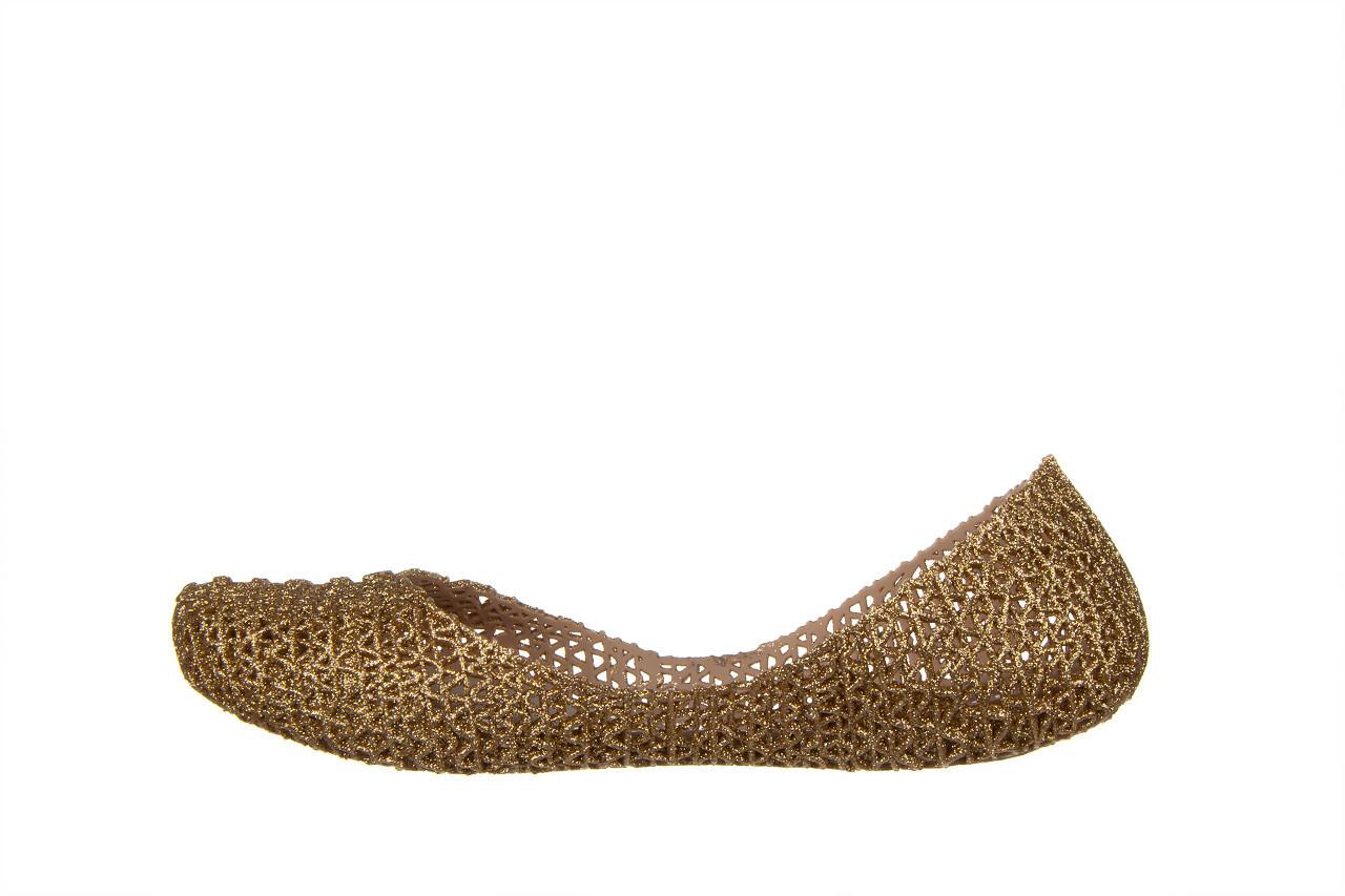 Baleriny melissa campana papel vii ad beige glitter 21 010364, złoty, guma - baleriny - melissa - nasze marki 9