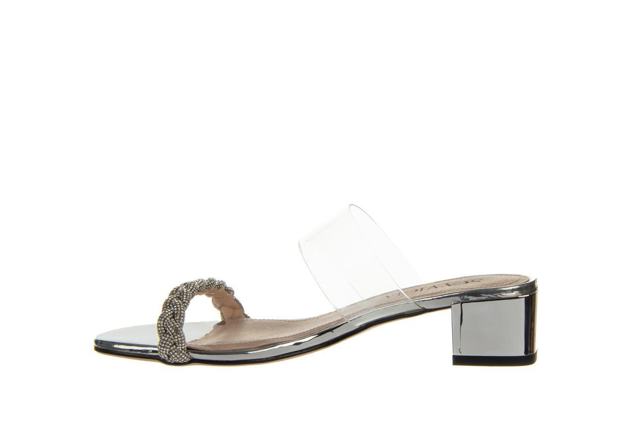 Klapki sca'viola b-205 silver 047180, srebro, silikon - klapki - buty damskie - kobieta 12