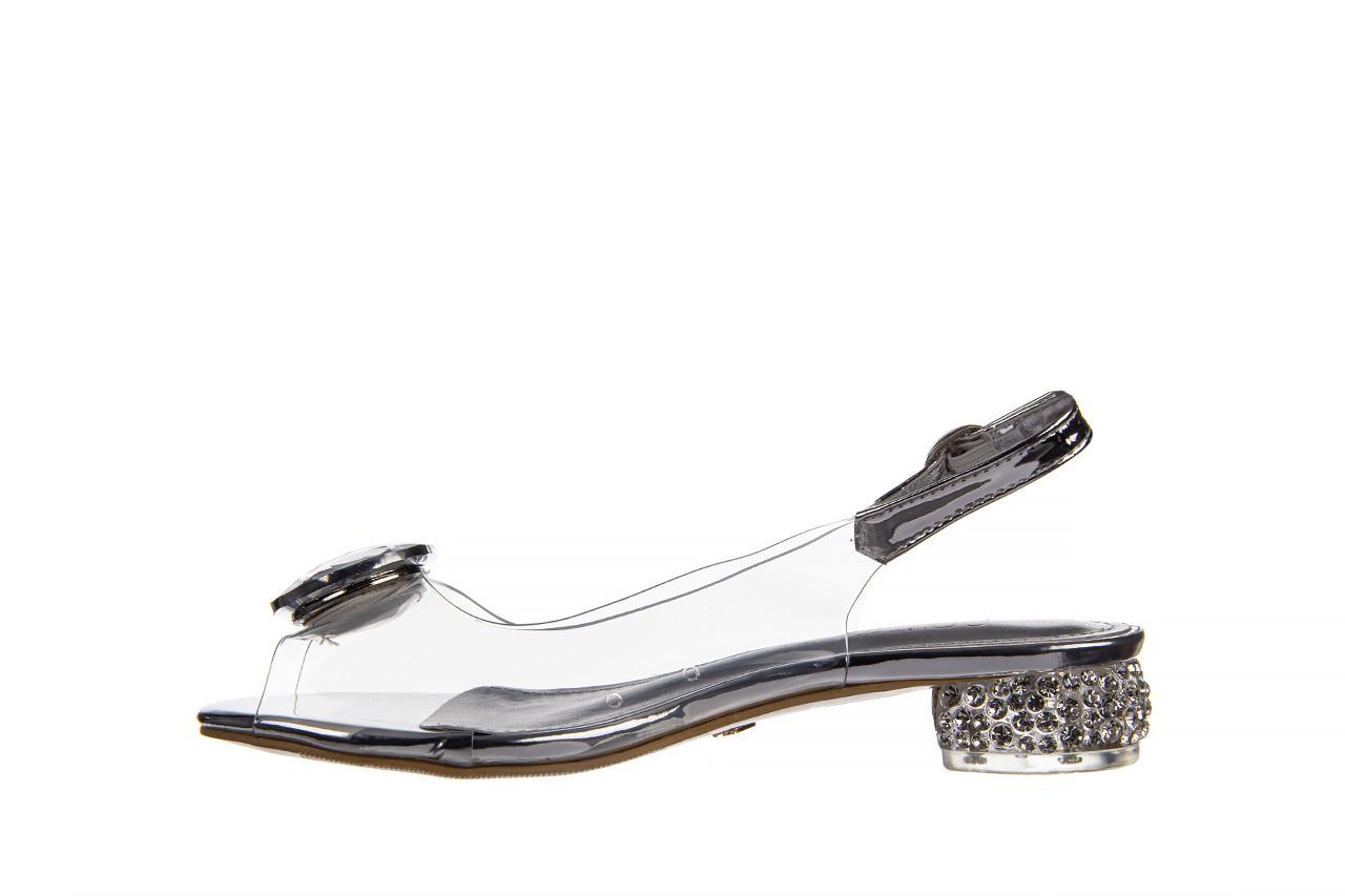 Sandały sca'viola g-15 silver 21 047183, srebro, silikon  - na obcasie - sandały - buty damskie - kobieta 12