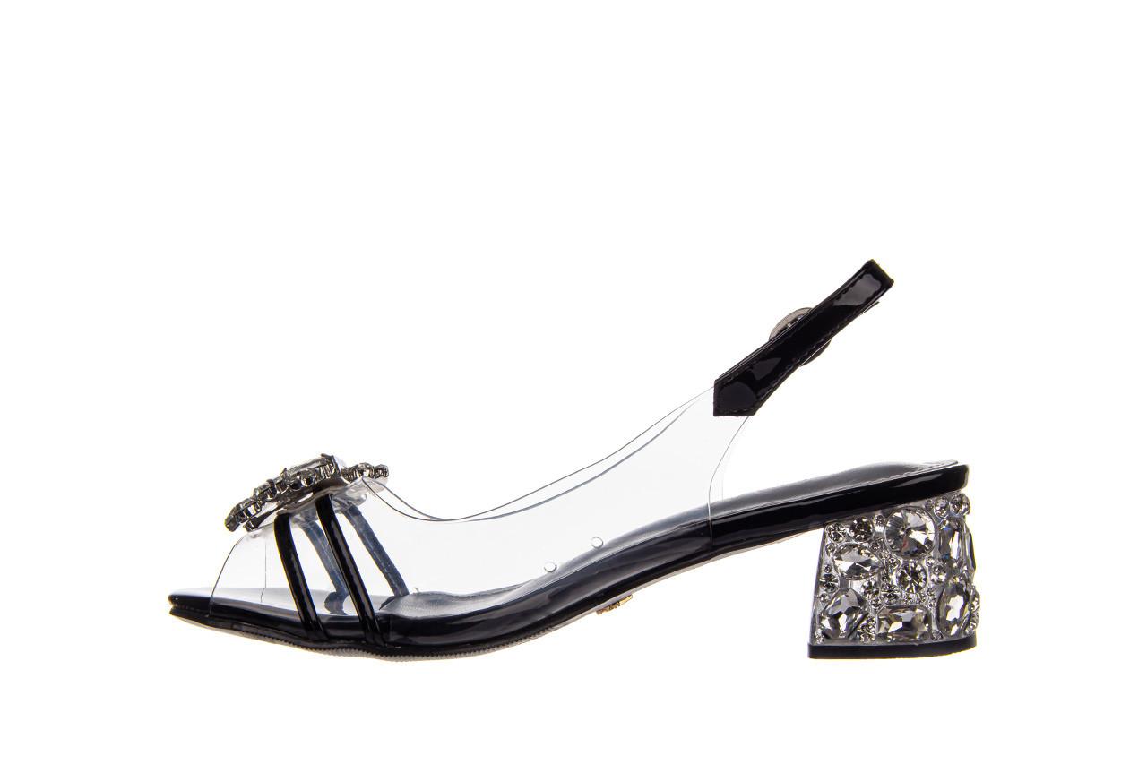 Sandały sca'viola g-25 black 047187, czarny, silikon 11