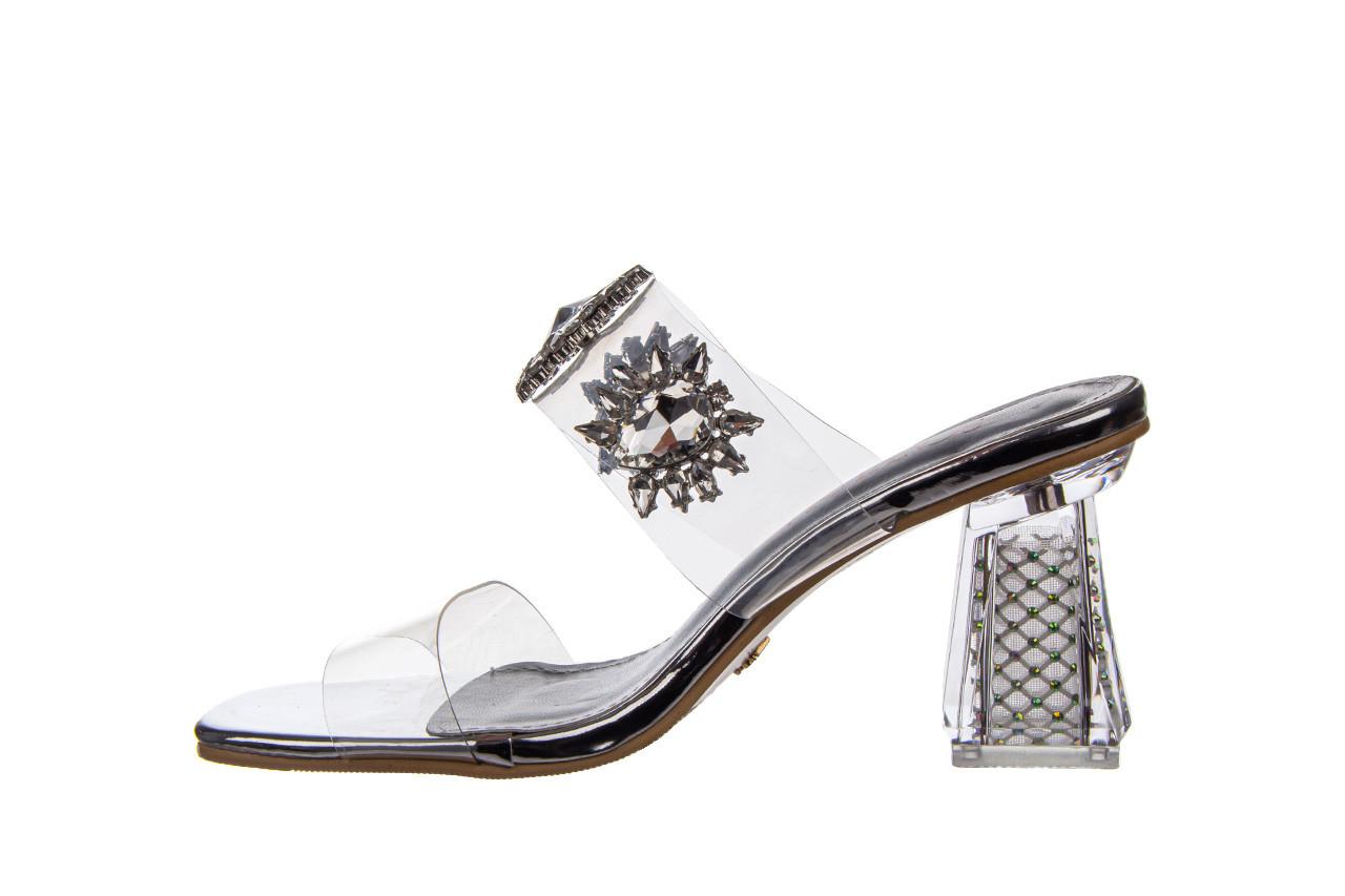 Klapki sca'viola g-58 silver 047188, srebro, silikon  - klapki - buty damskie - kobieta 11