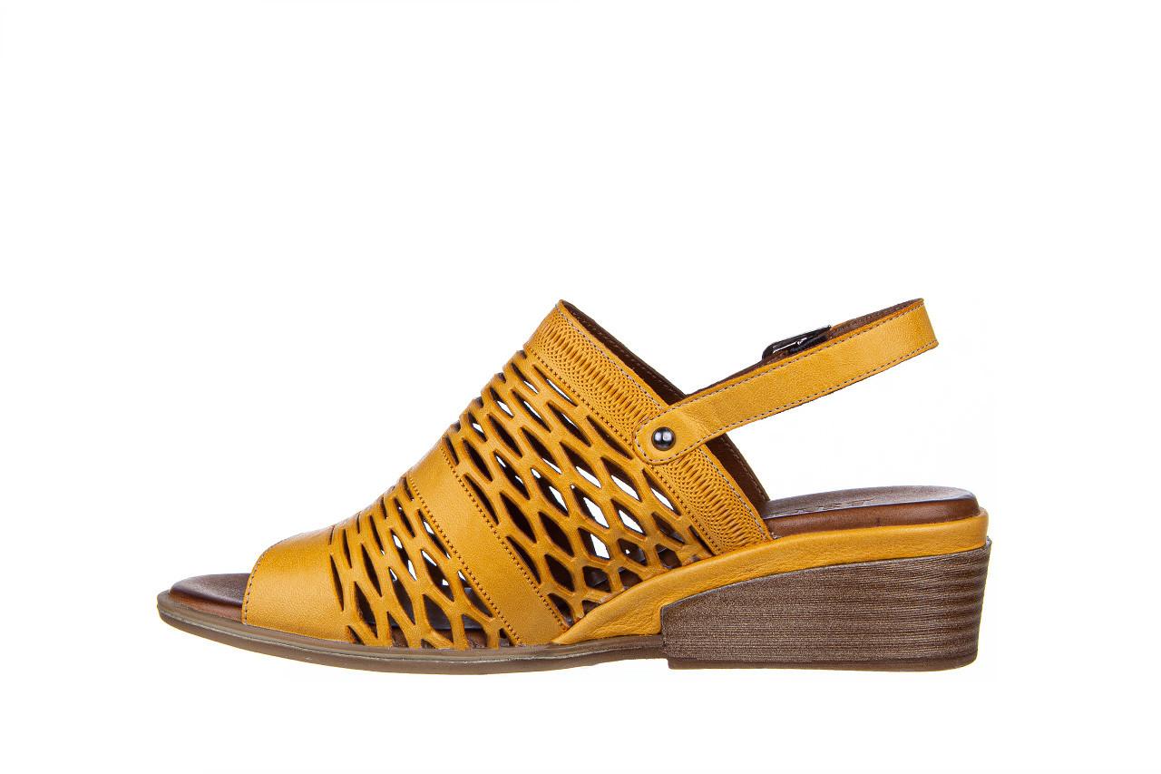 Sandały bayla-161 061 1600 noce 161200, żółty, skóra naturalna  - sandały - buty damskie - kobieta 11
