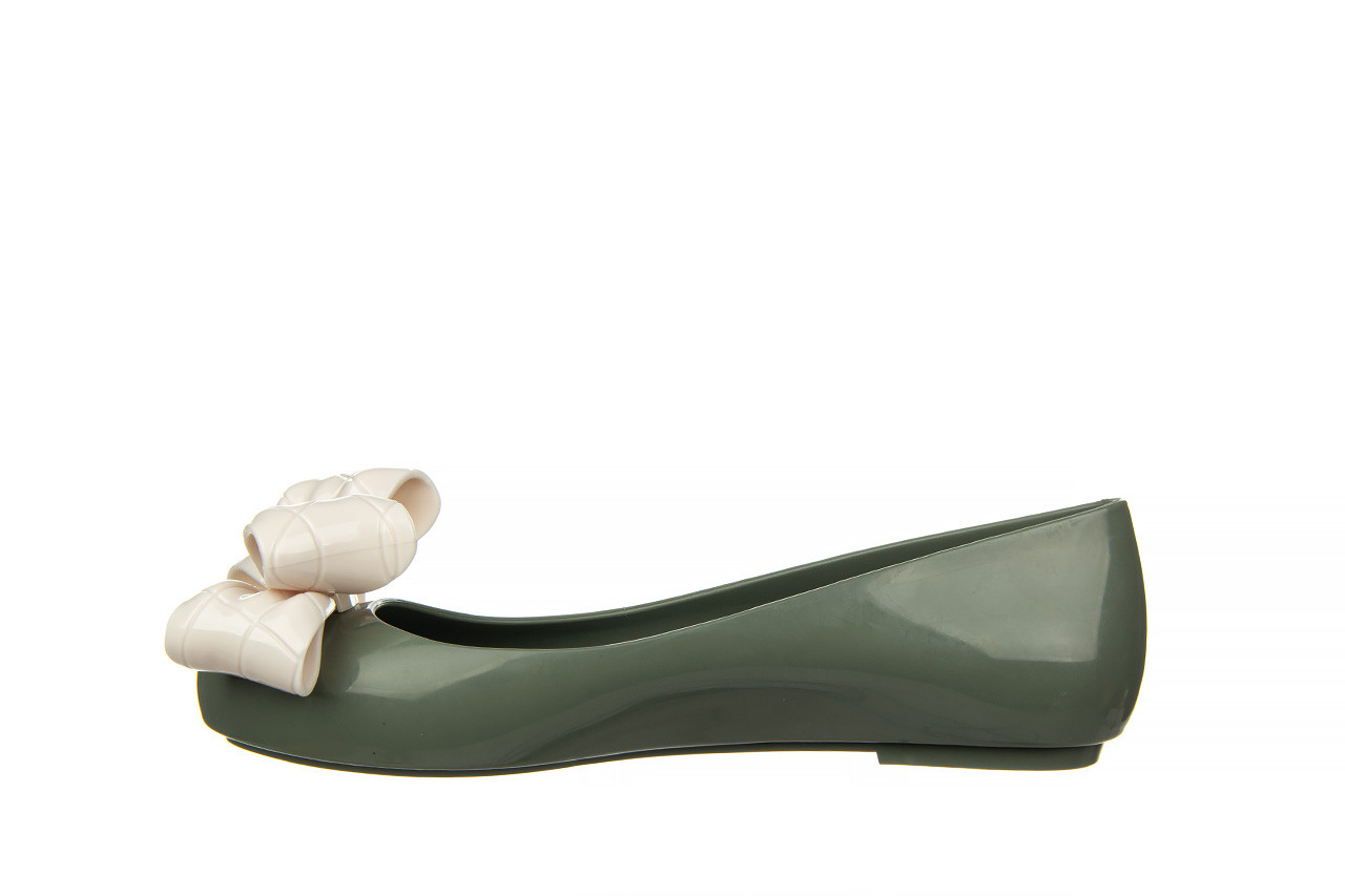 Baleriny melissa sweet love iv ad green beige 010370, zielony, guma 10