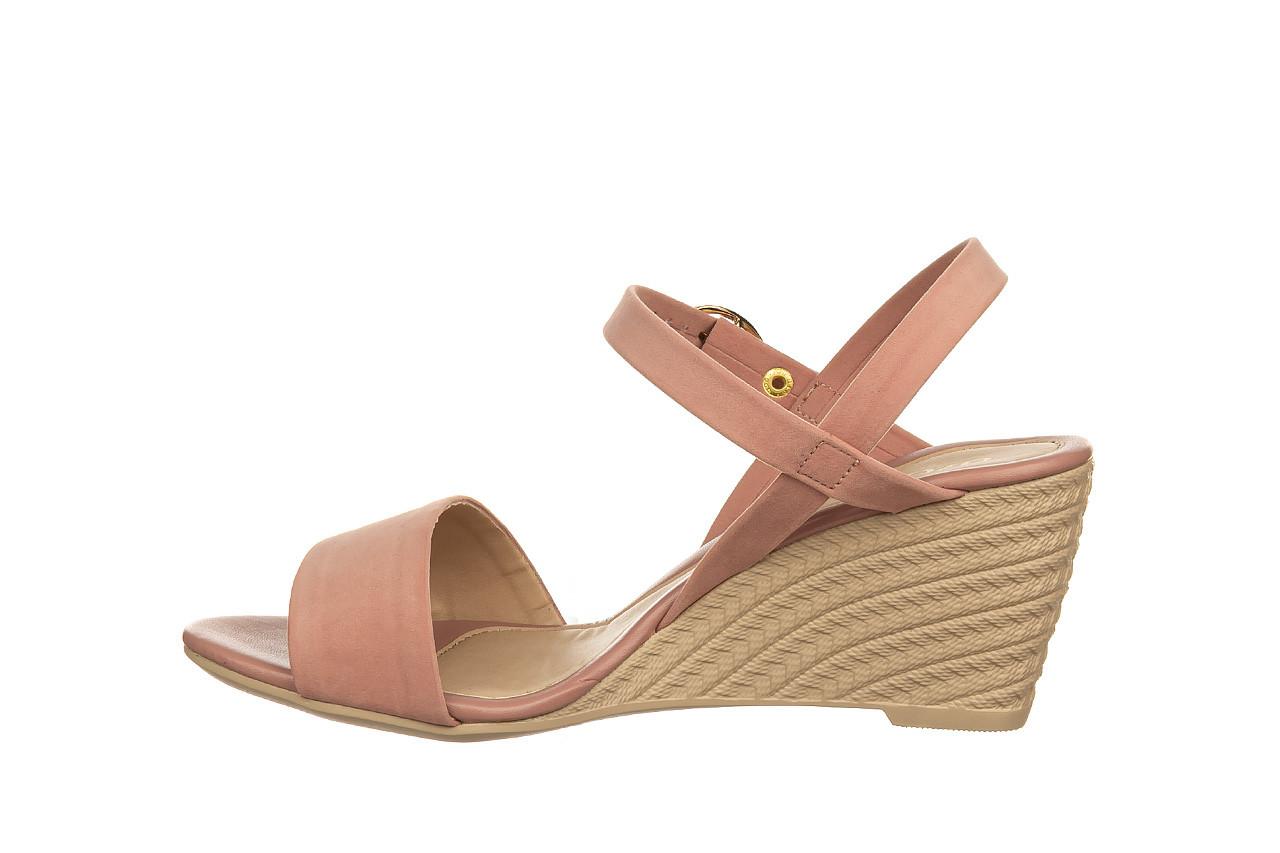 Sandały azaleia 680 242 suede old pink, róż, materiał  - koturny - buty damskie - kobieta 9