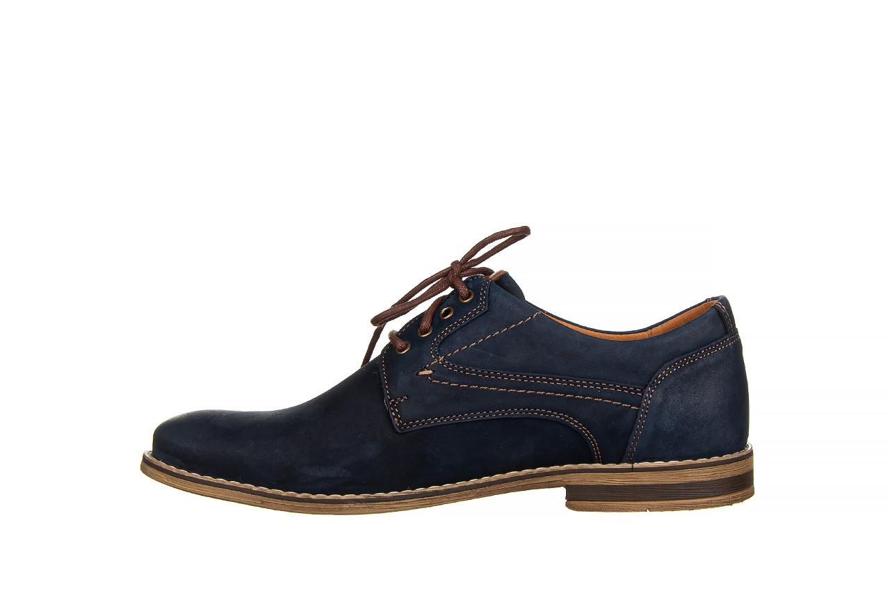 Półbuty bayla-081 831 juma blue ax, granat, skóra naturalna  - wizytowe - półbuty - buty męskie - mężczyzna 10