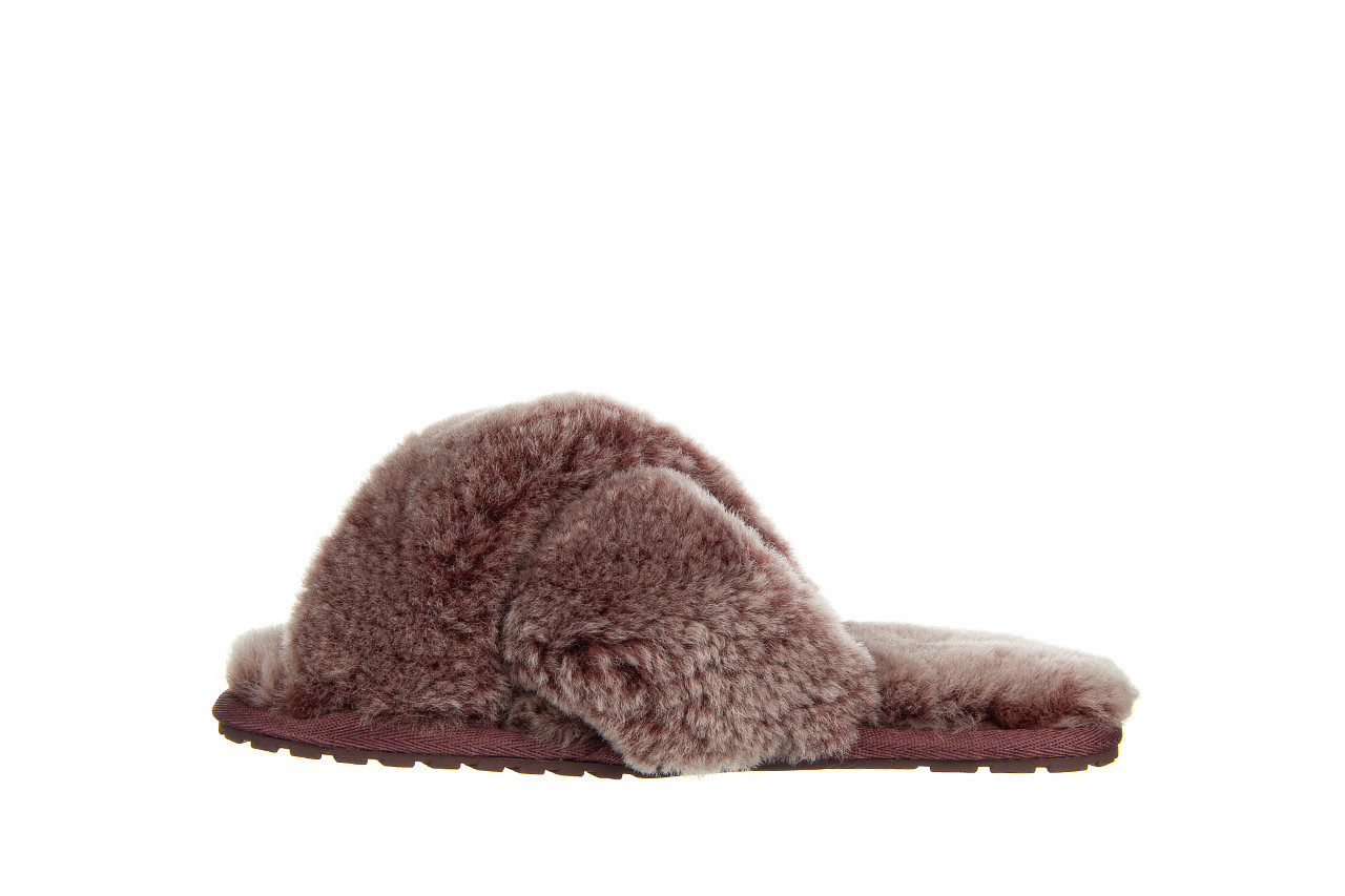 Kapcie emu mayberry frost burnt rust 119131, bordo, futro naturalne  - nowości 9