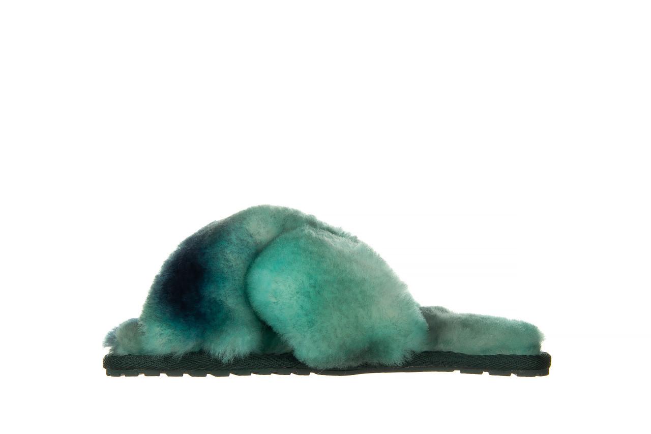 Kapcie emu mayberry tie dye green sea 119138, zielony, futro naturalne  - nowości 9