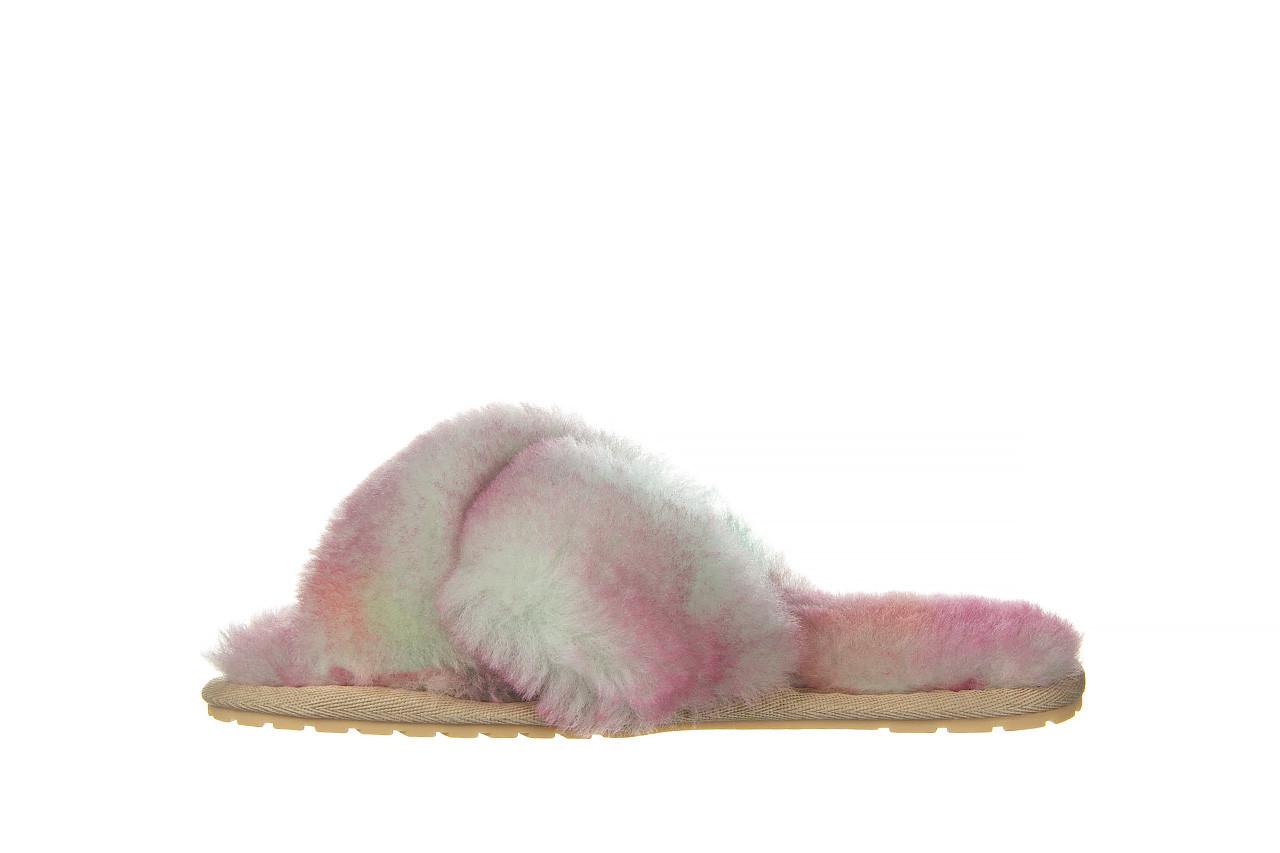 Kapcie emu mayberry tie dye fairly floss 119137, róż, futro naturalne  - nowości 9