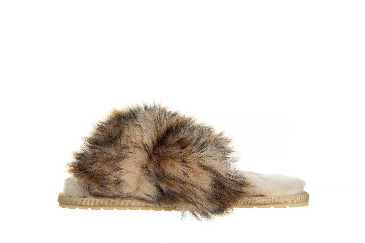 Kapcie emu mayberry lava chestnut 119134, beż, futro naturalne  - trendy - kobieta 9