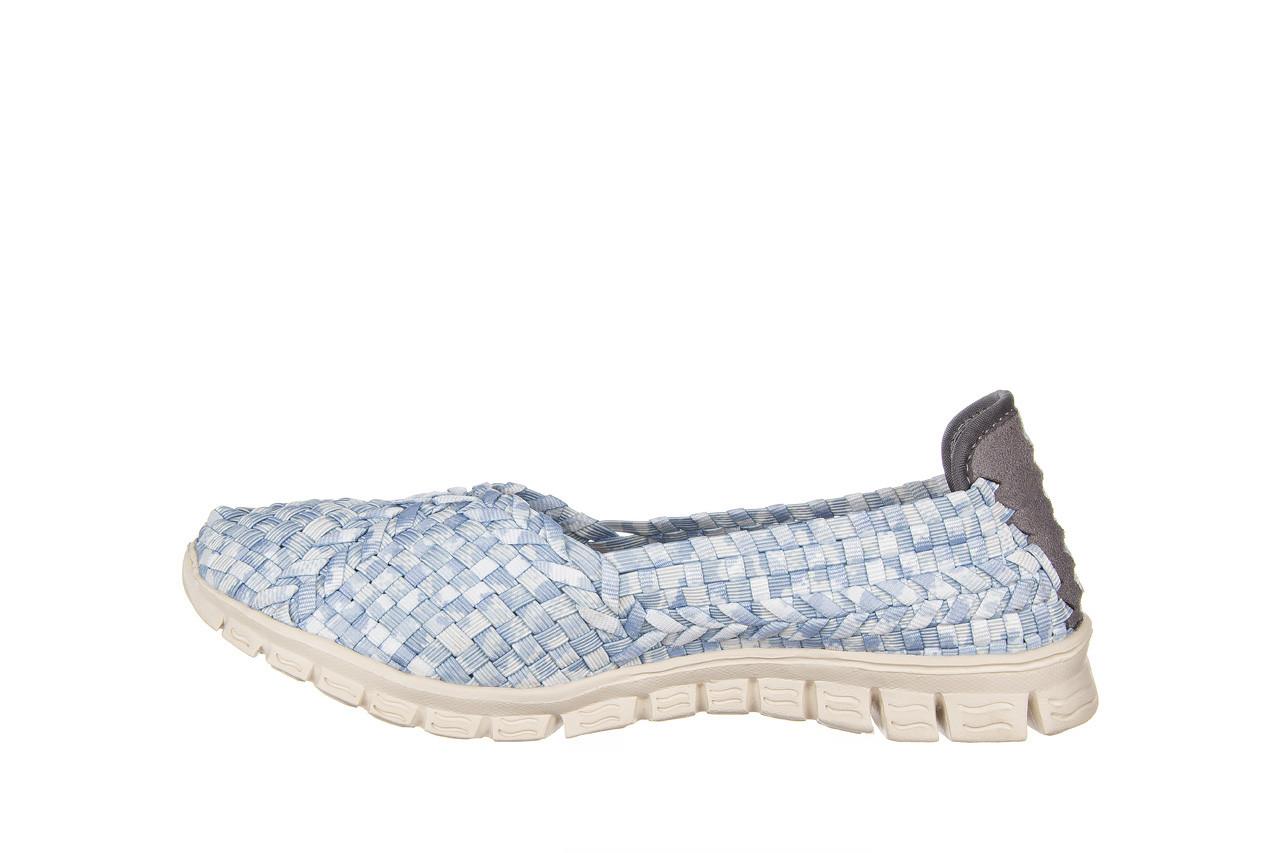 Półbuty rock carioca perena blue smoke 032826, niebieski/ biały, materiał - wsuwane - półbuty - buty damskie - kobieta 10