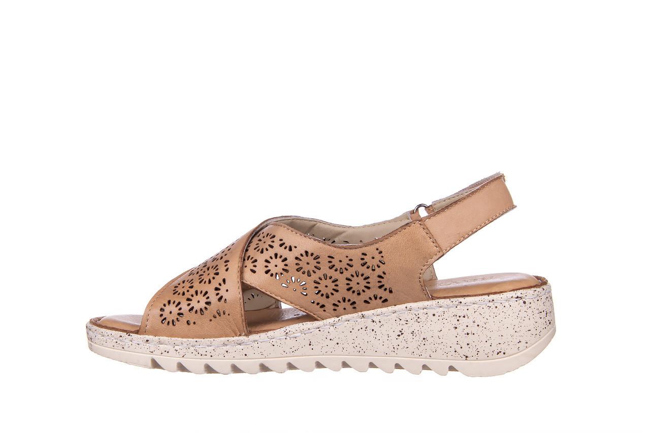 Sandały bayla-161 016 921 cappuccino 161192, brąz, skóra naturalna - sandały - buty damskie - kobieta 11