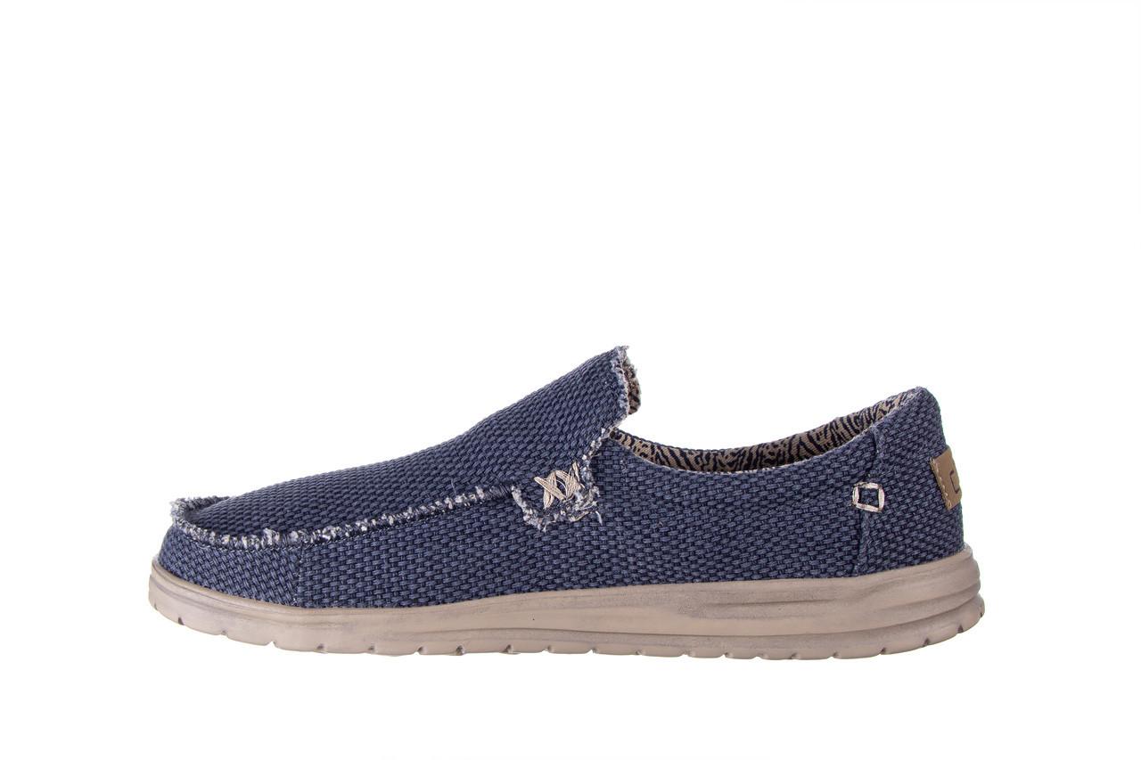 Półbuty heydude mikka braided deep blue 003196, granat, materiał - buty męskie - mężczyzna 10