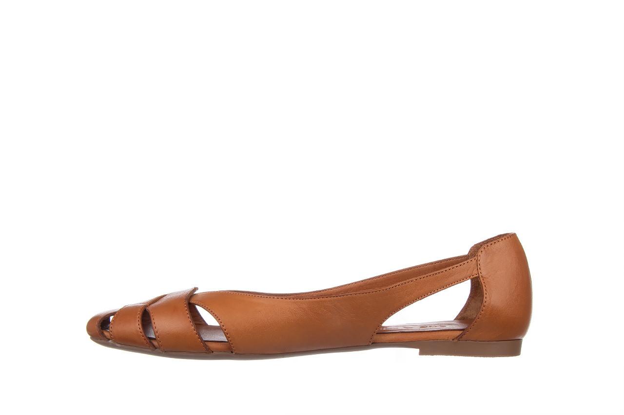 Baleriny bayla-161 093 6047 coconut 161209, brąz, skóra naturalna  - skórzane - baleriny - buty damskie - kobieta 10