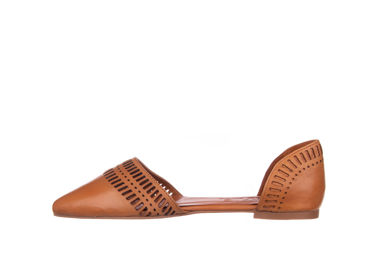 Baleriny bayla-161 138 1102 coconut 161216, brąz, skóra naturalna  - skórzane - baleriny - buty damskie - kobieta 10
