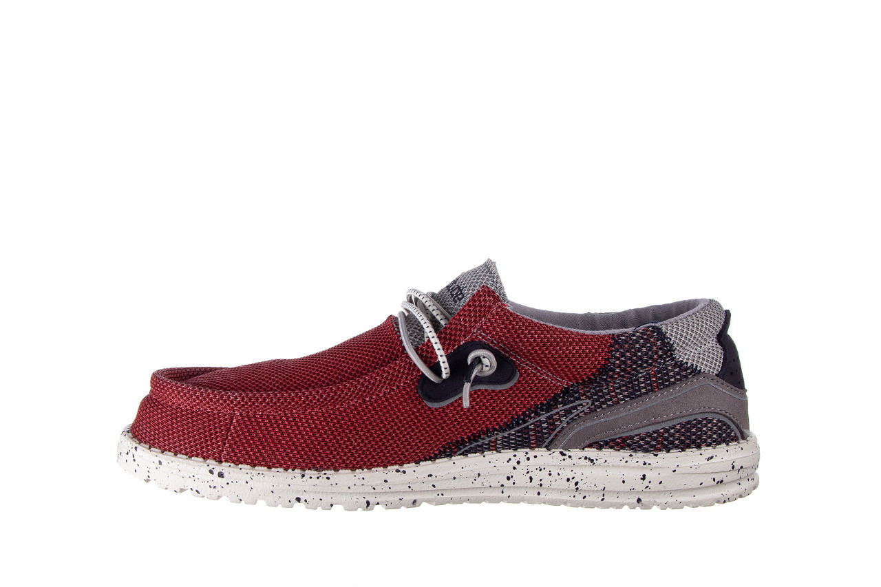 Półbuty heydude wally hawk lava grey 003200, czerwony, materiał - trendy - mężczyzna 10
