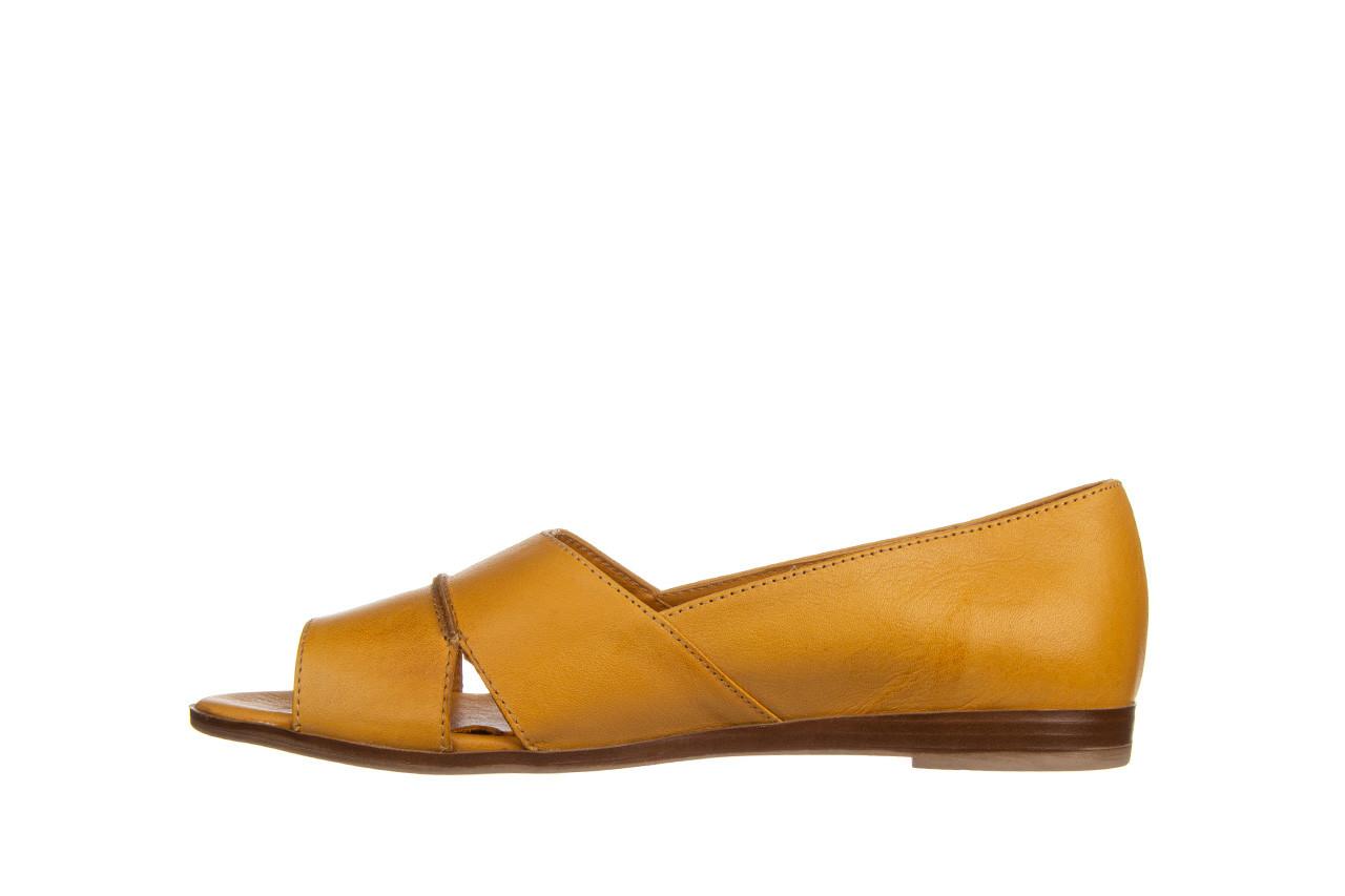 Baleriny bayla-161 138 80123 noce 161225, żółty, skóra naturalna  - skórzane - baleriny - buty damskie - kobieta 10