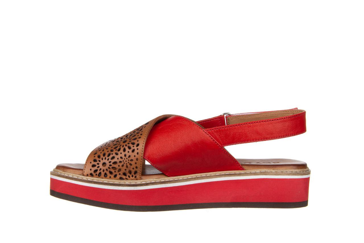 Sandały bayla-161 105 2014 coconut red 161212, czerwony/ brąz, skóra naturalna  - skórzane - sandały - buty damskie - kobieta 11