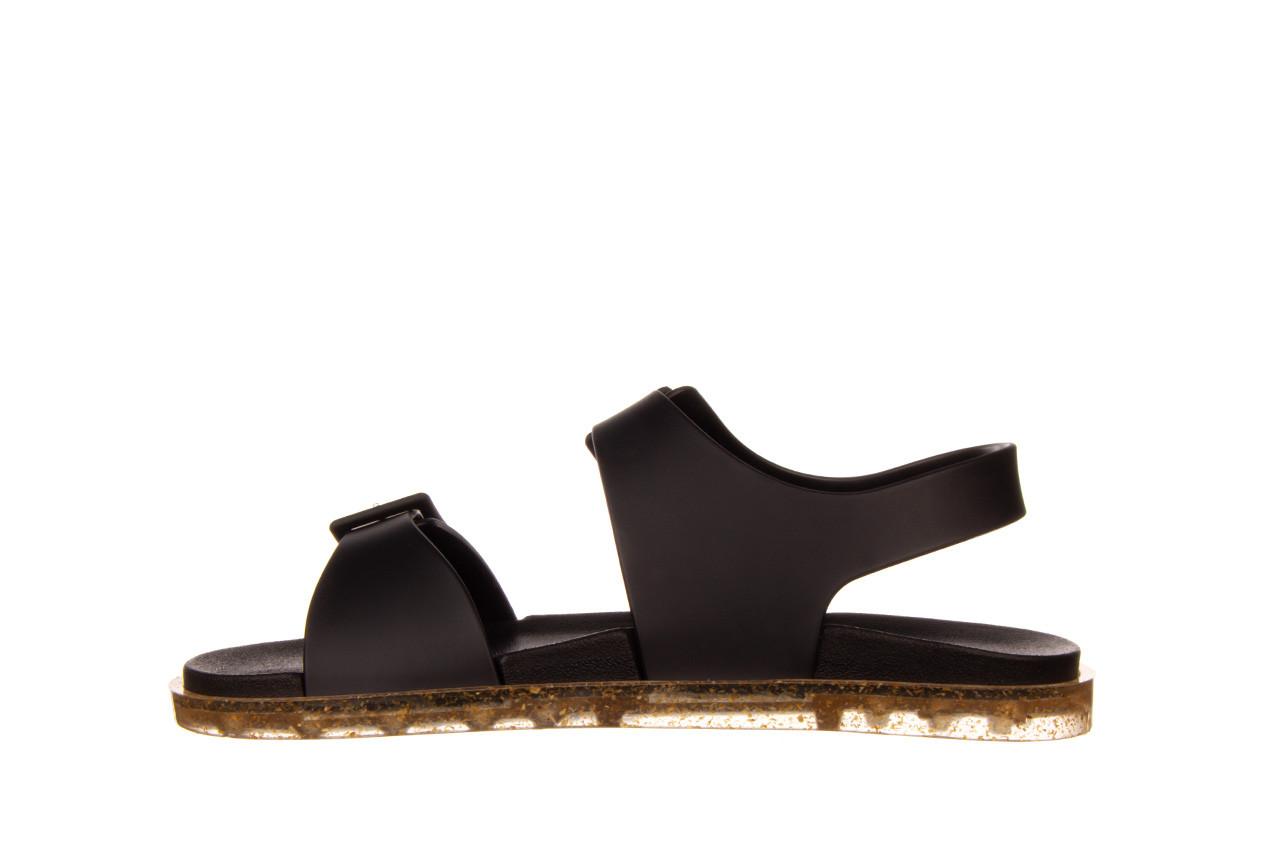 Sandały melissa wide sandal ad black rice husk 010358, czarny, guma - nowości 10