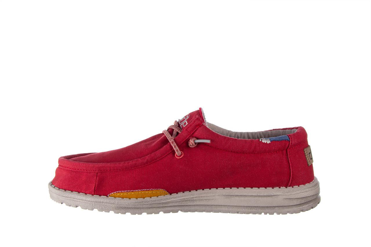 Półbuty heydude wally washed molten lava 003208, czerwony, materiał - trendy - mężczyzna 10