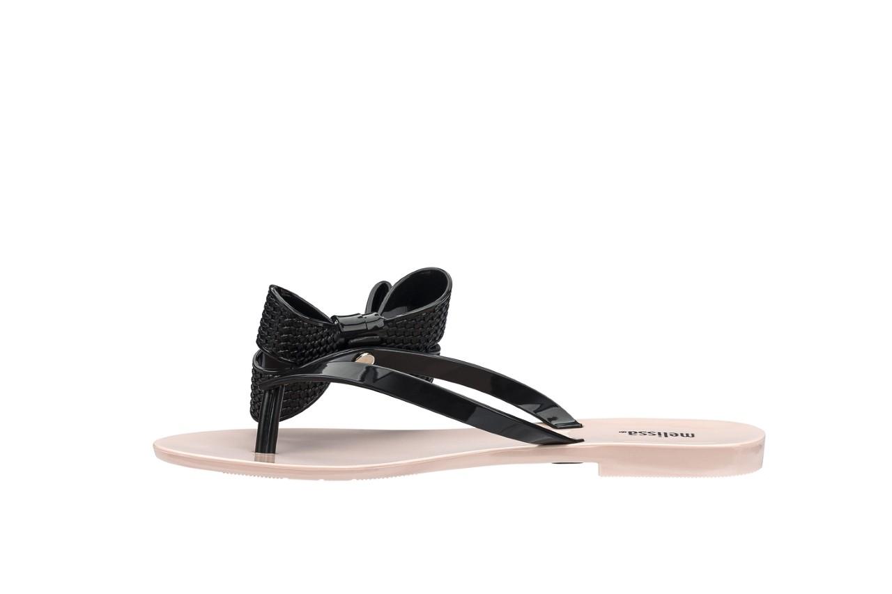 Klapki melissa harmonic bow v ad pink black, róż/czarny, guma 5