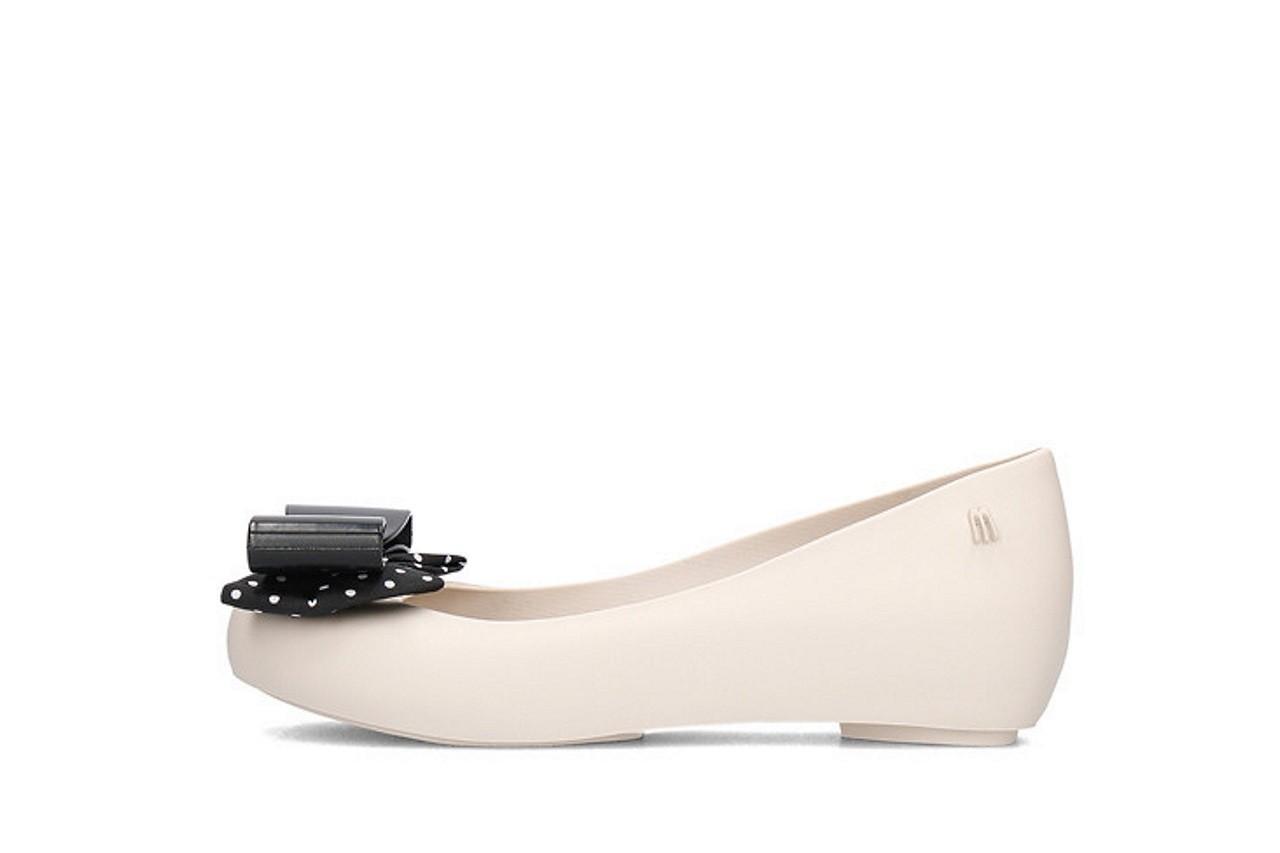 Baleriny melissa ultragirl minnie iv ad beige black, biały/ czarny, guma  - melissa - nasze marki 5