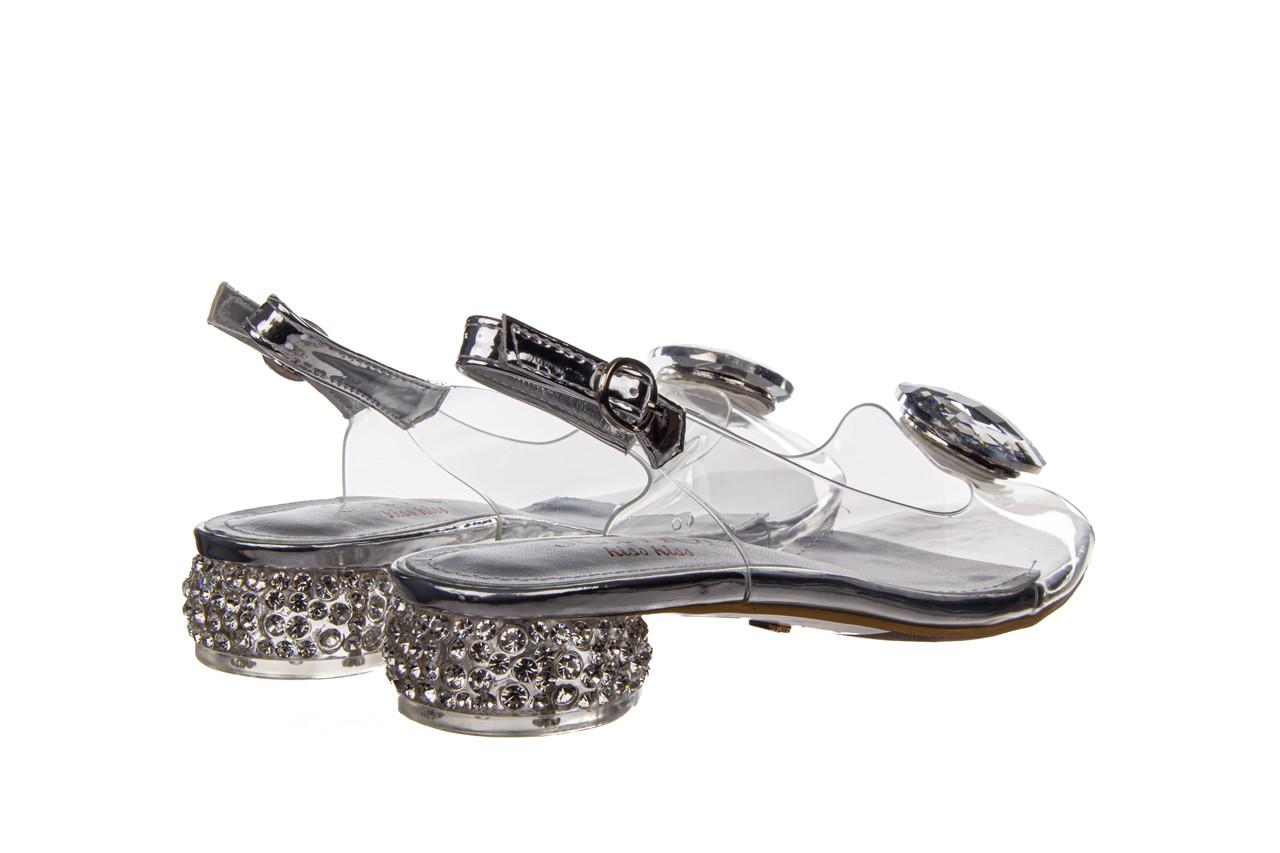 Sandały sca'viola g-15 silver 21 047183, srebro, silikon  - na obcasie - sandały - buty damskie - kobieta 13