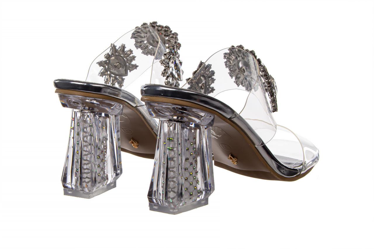 Klapki sca'viola g-58 silver 047188, srebro, silikon  - klapki - buty damskie - kobieta 12
